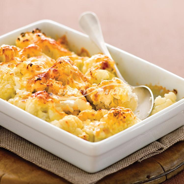 3 cheese cauliflower bake