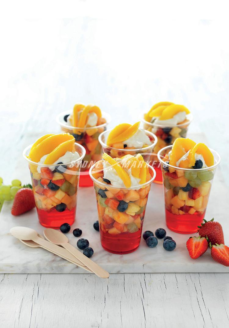 Summer fruit jelly cups