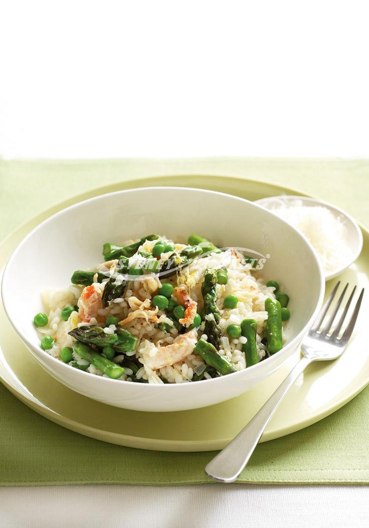 Asparagus, crab and lemon risotto