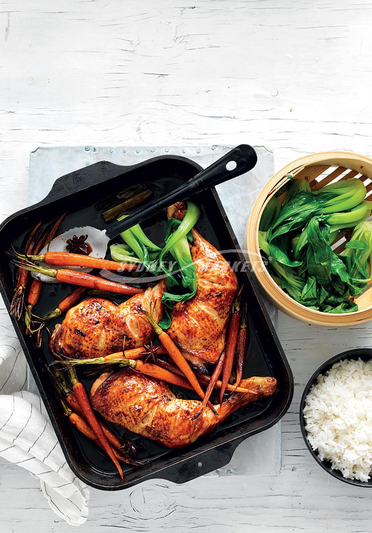 Chinese roasted Dutch carrots & chicken