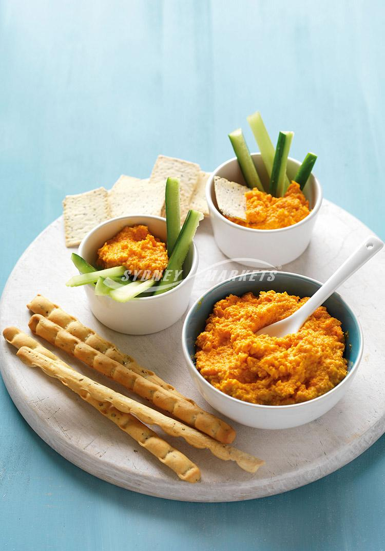 Honeyed carrot & cream cheese dip