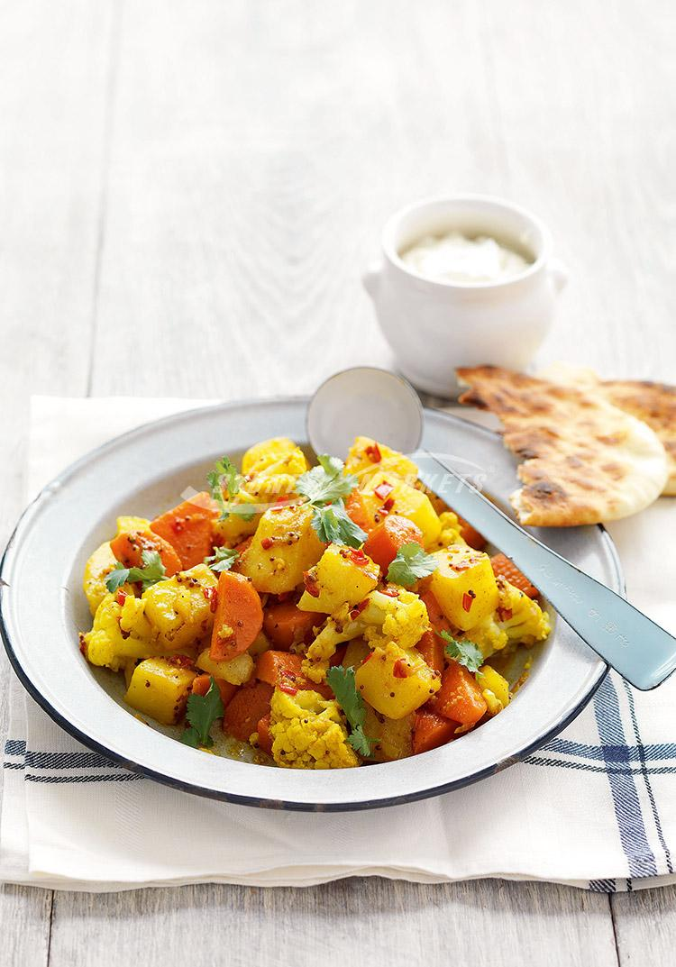 Indian-spiced winter vegetables