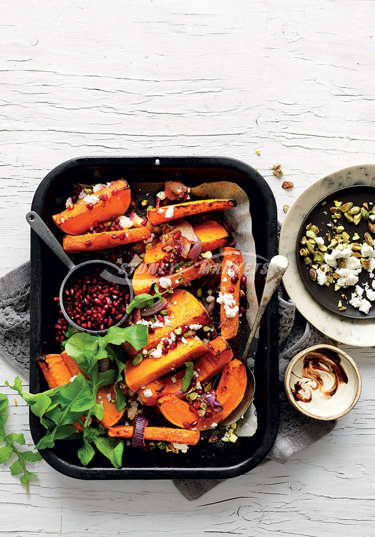 Moroccan roasted butternut pumpkin with feta