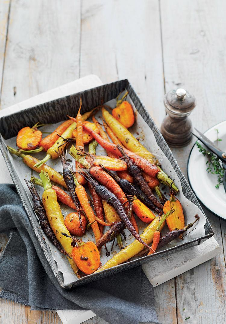 Roasted carrots with honey & thyme