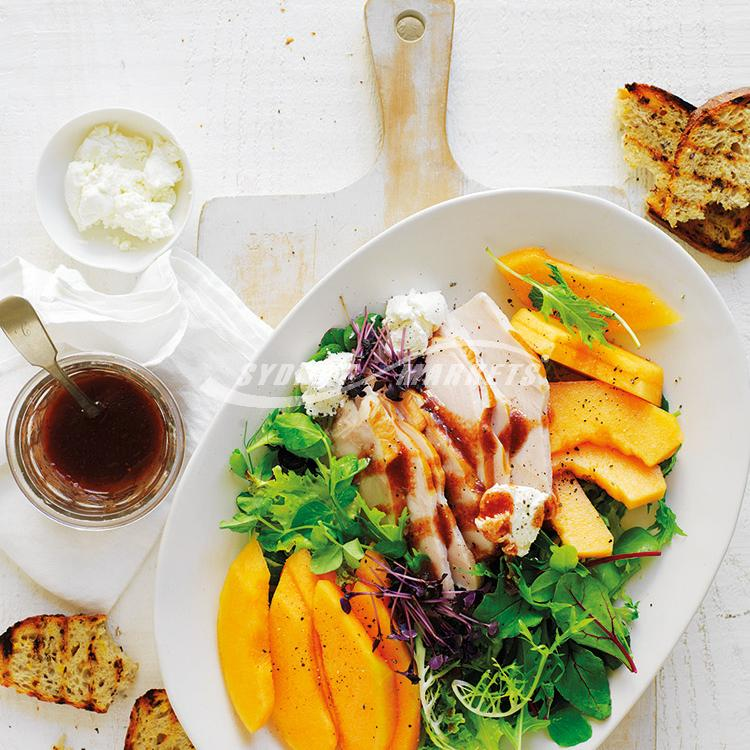 Rockmelon & turkey salad