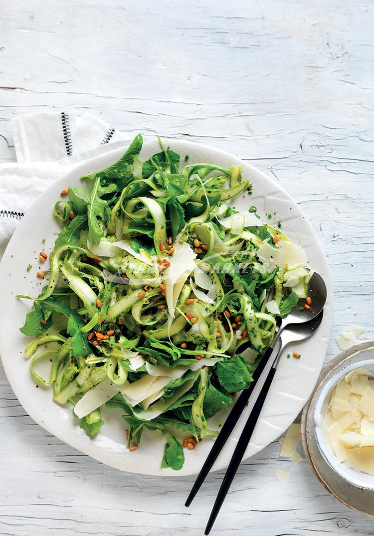 Shaved asparagus, rocket & parmesan salad