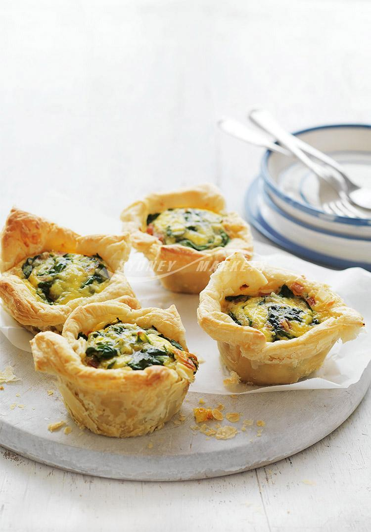 Spinach & bacon pies