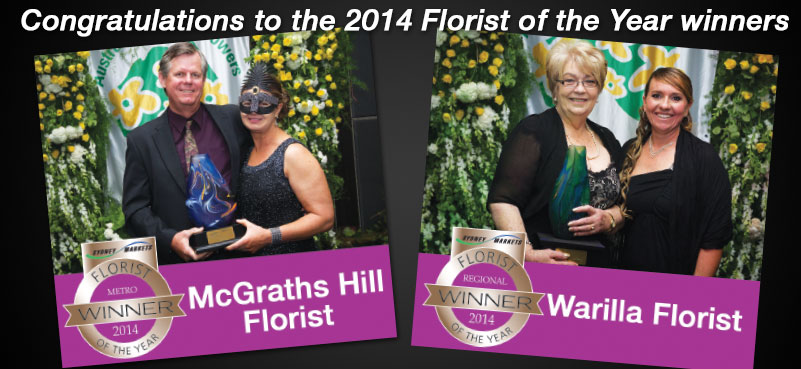 Congratulations to the 2014 Florist of the Year winners