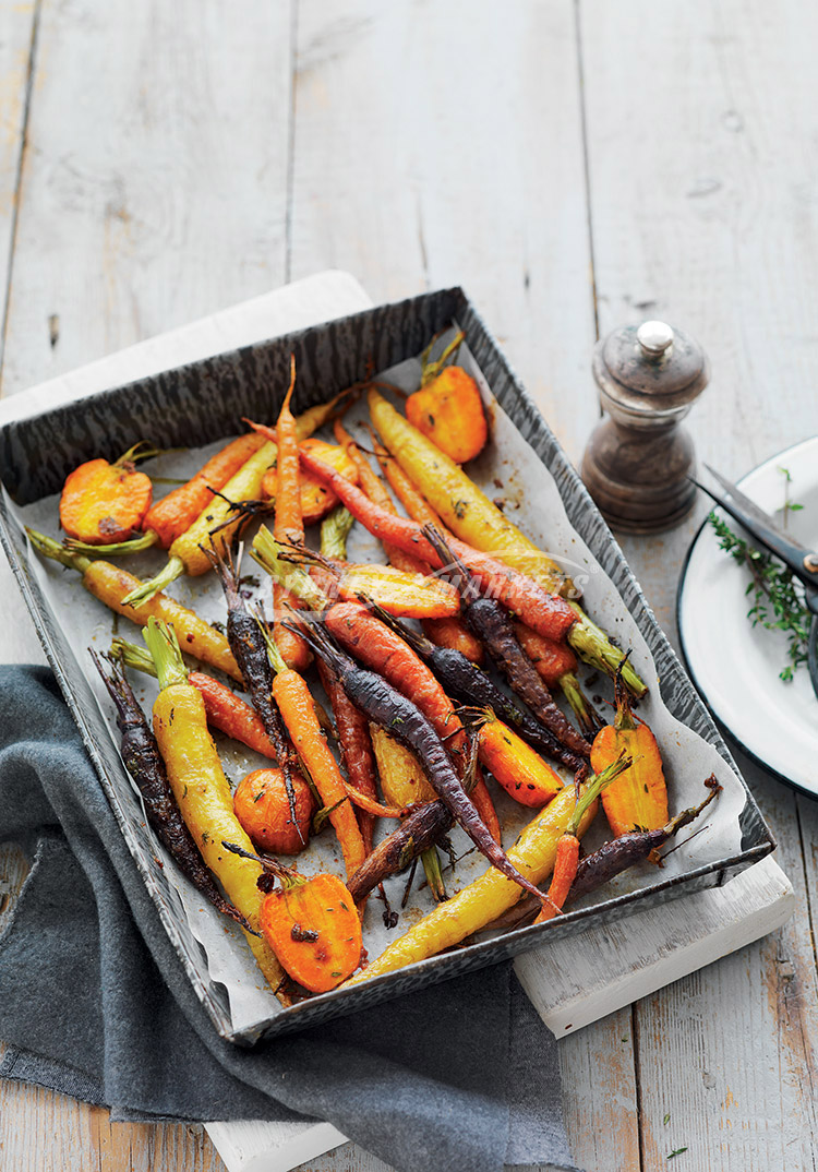 Sydney Markets - Roasted carrots with honey & thyme