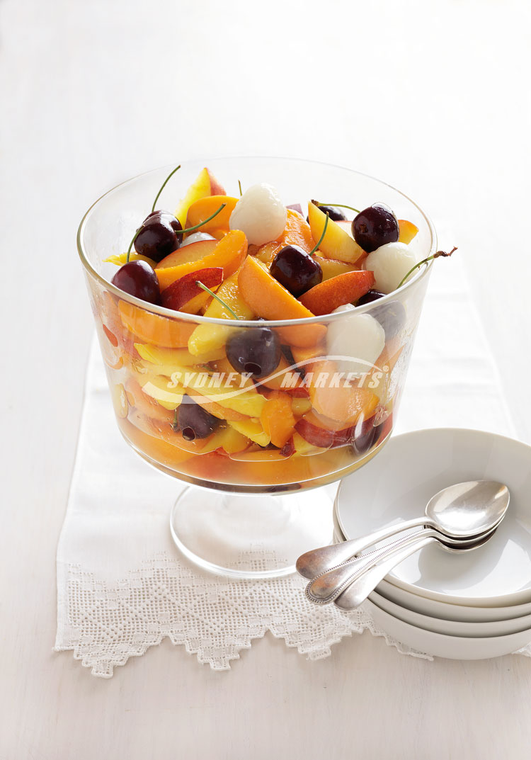 Fruit Cup With Lime Syrup Recipe — Dishmaps