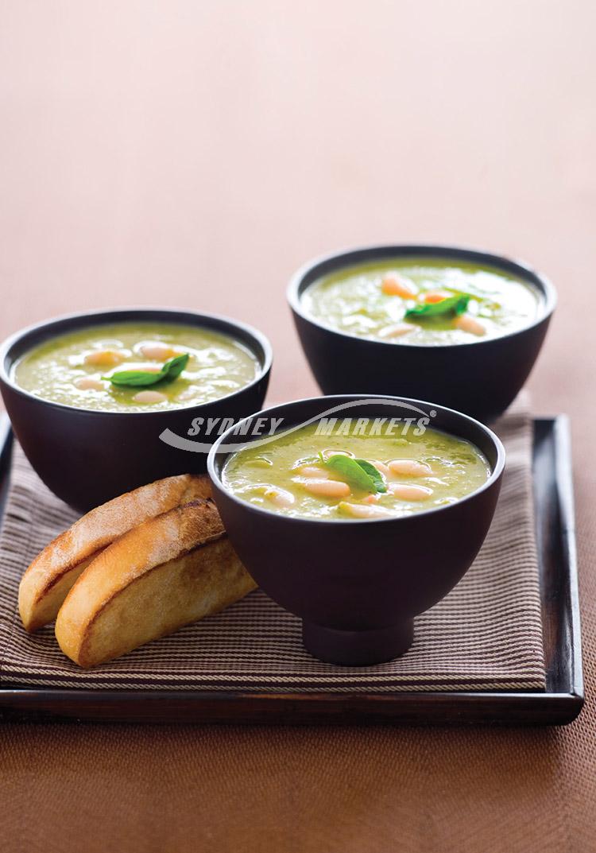 Sydney Markets Zucchini Broccoli Cannellini Bean Soup